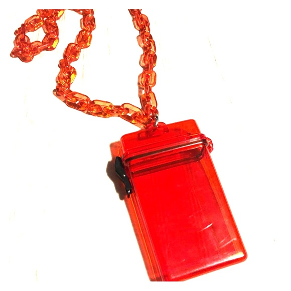 Accessories - Hard Red Acrylic Bag